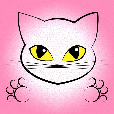 lovable: Cute Cat Showing Beautiful Lovable And Felines