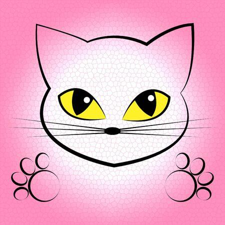 felines: Cute Cat Showing Beautiful Lovable And Felines