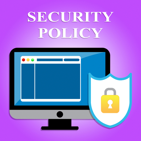 unauthorized: Security Policy Showing Secure Protected And Unauthorized Stock Photo