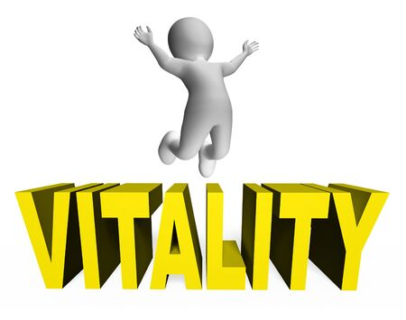 Vitality Character Showing Active Rendering And Activity 3d Rendering Stock Photo