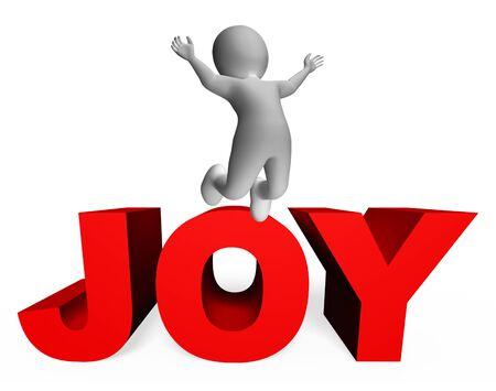 jubilant: Joy Character Showing Render 3d Rendering And Illustration