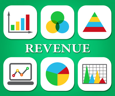 earns: Revenue Charts Meaning Business Graph And Statistical Stock Photo