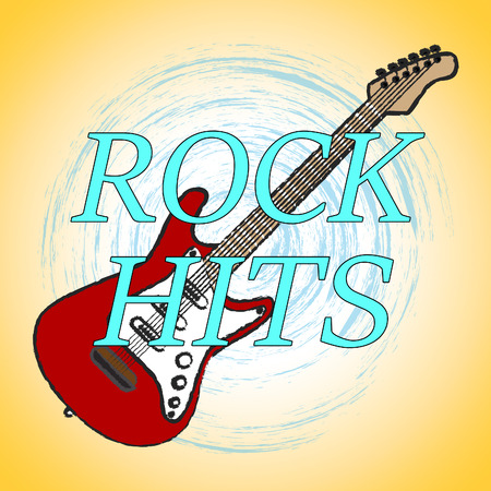 popular: Rock Hits Meaning Sound Track And Popular Stock Photo