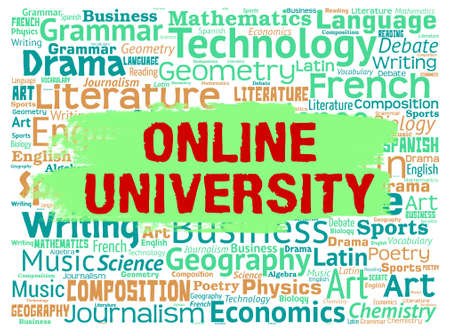 establishment: Online University Representing Educational Establishment And Study