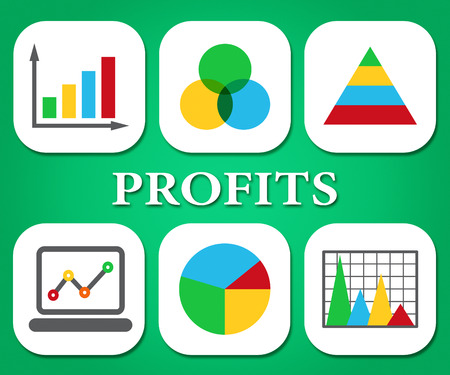 earns: Profits Charts Meaning Business Graph And Investment