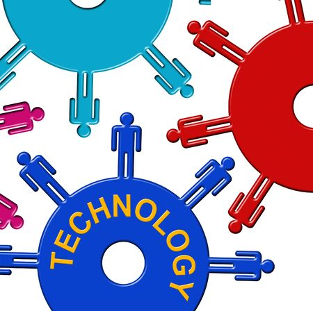 gear wheel: Technology Cogs Representing Gear Wheel And Technologies