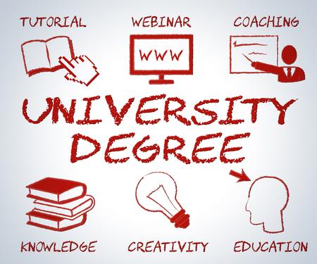 establishment: University Degree Meaning Educational Establishment And Studying Stock Photo