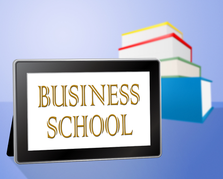 educated: Business School Representing Corporation Company And Educated Stock Photo