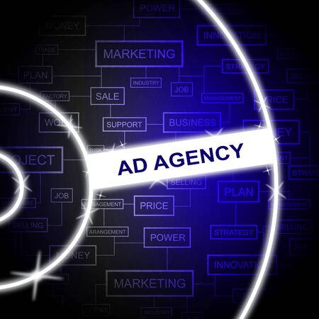 advertisements: Ad Agency Indicating Service Advertisements And Adverts