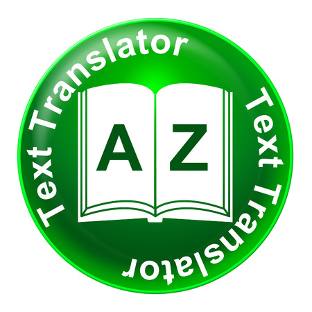 Text Translator Representing Foreign Language And Learning Banco de Imagens
