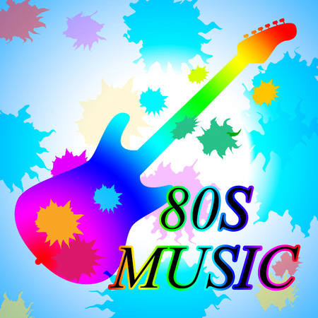 eighties: Eighties Music Showing Acoustic Music And Soundtrack Stock Photo