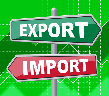 export import: Export Import Representing Buy Abroad And Message