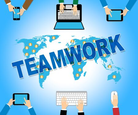 organized unit: Business Teamwork Representing Organization Web And Teams Stock Photo