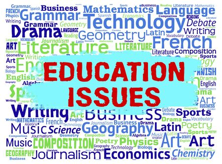 affairs: Education Issues Indicating Affairs Educate And Critical Stock Photo