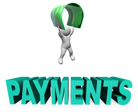 settlement: Credit Card Payments Indicating Illustration Purchase And Cashless 3d Rendering