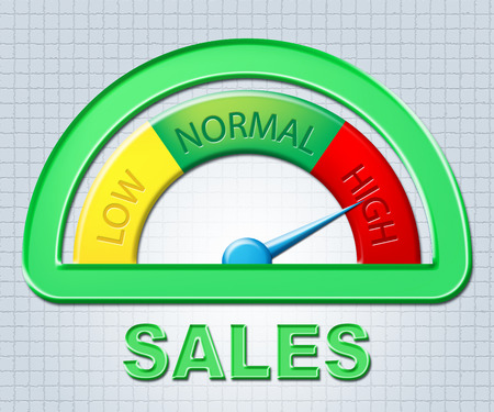 high scale: High Sales Representing Scale Shopping And Excessive