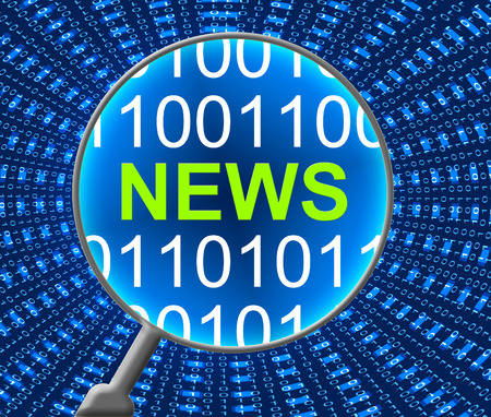 news online: News Online Showing Web Site And Media Stock Photo