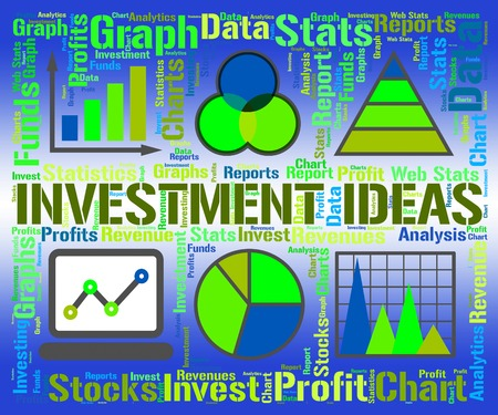 investment ideas: Investment Ideas Indicating Plan Invests And Savings Stock Photo