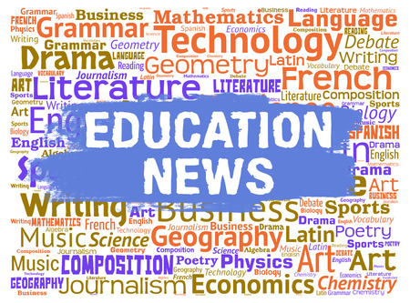 educated: Education News Showing Social Media And Educated Stock Photo