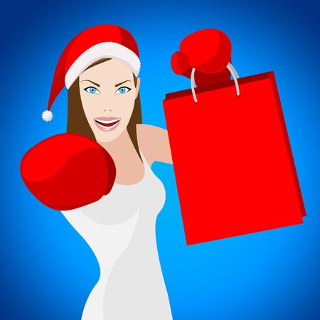 merchandiser: Christmas Shopping Showing Adult Buying And X-Mas Stock Photo