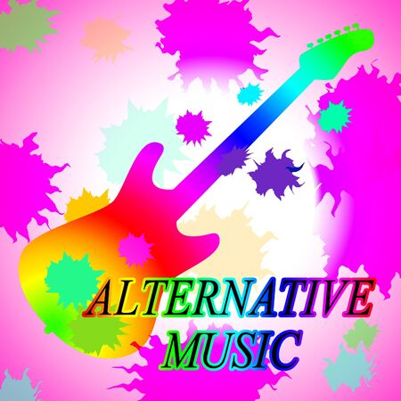 another way: Alternative Music Showing Sound Track And Audio