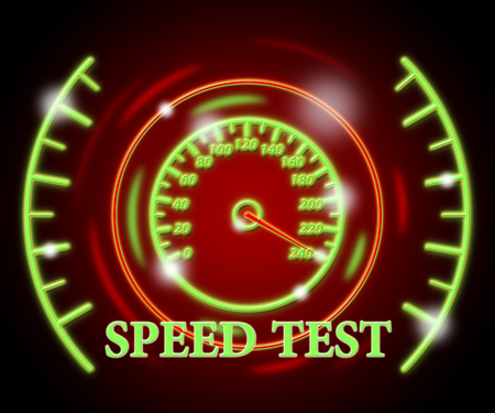 quizzes: Speed Test Indicating Rush Fast And Quizzes Stock Photo