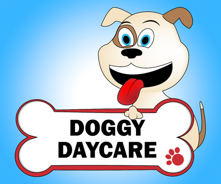 pup: Doggy Daycare Indicating Puppies Pup And Kindergarten