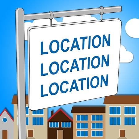 locate: House Location Representing Locate Homes And Residence