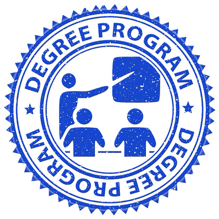 masters: Degree Program Meaning Stamps Courses And Masters Stock Photo