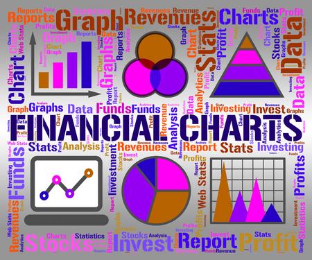 infochart: Financial Charts Representing Business Graph And Infochart Stock Photo