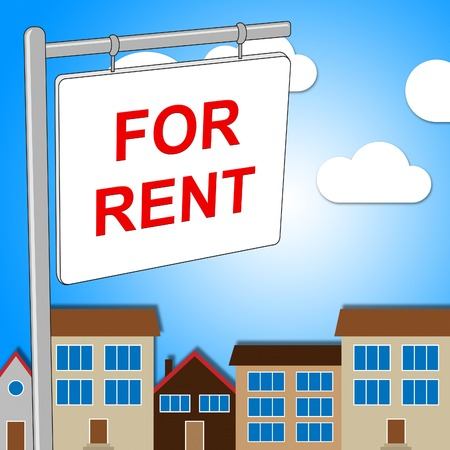 leases: For Rent Meaning Signboard Rental And Habitation Stock Photo