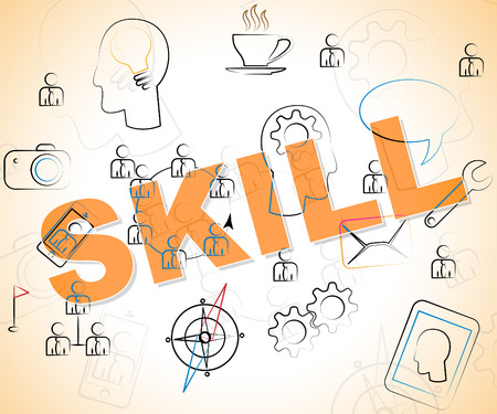 skill: Skill Word Indicating Competence Skilled And Aptitude