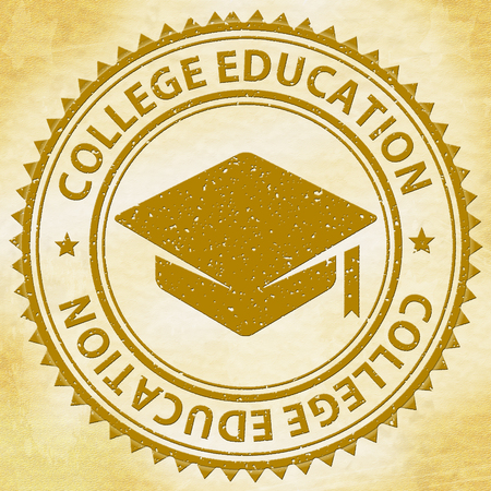 educated: College Education Representing Educated Training And Learned