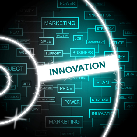 innovation word: Innovation Word Representing Restructuring Improving And Innovating