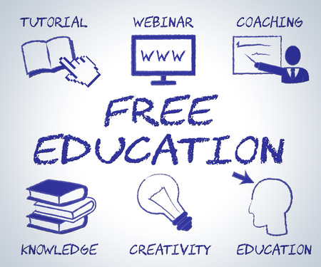 nothing: Free Education Representing For Nothing And Searching Stock Photo
