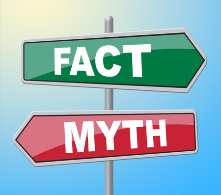 untrue: Fact Myth Signs Showing The Facts And Untrue