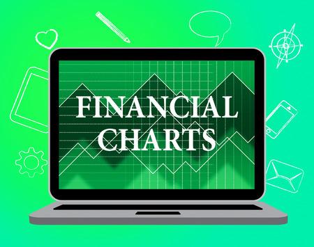 infochart: Financial Charts Showing Web Site And Infochart