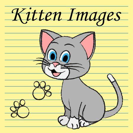 kitties: Kitten Images Indicating Domestic Cat And Kitties Stock Photo