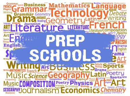 schooling: Prep Schools Representing Training Learning And Schooling Stock Photo