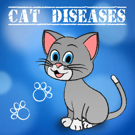 puss: Cat Diseases Showing Kitty Puss And Disorder