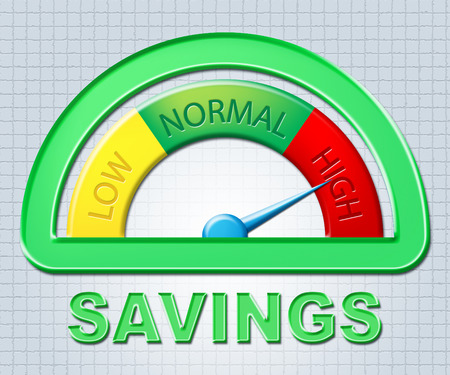 High Savings Representing Very Rich And Cash