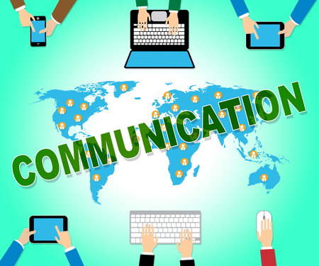 Communication Online Representing Web Site And Networking