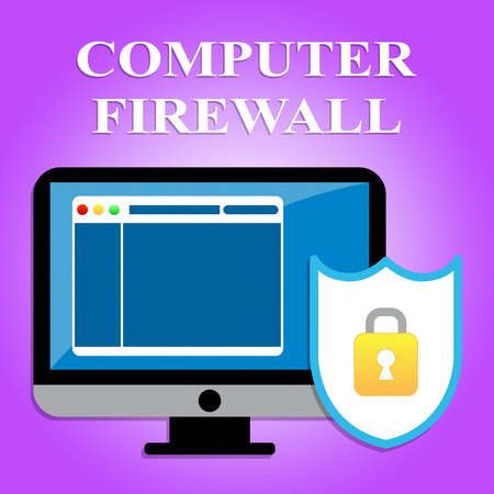 secure site: Computer Firewall Representing Web Site And Secure Stock Photo