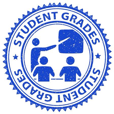Student Grades Representing Score Print And Study