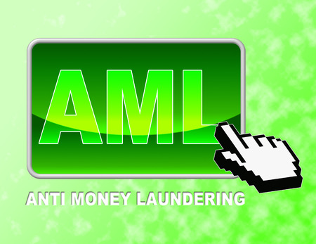 aml: Aml Button Indicating Anti Money Laundering And Web Site Stock Photo