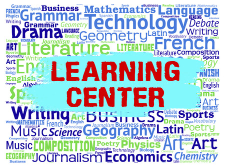 schooling: Learning Center Showing School Education And Schooling Words