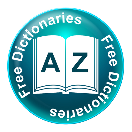 dictionaries: Free Dictionaries Meaning For Nothing And Learn Stock Photo
