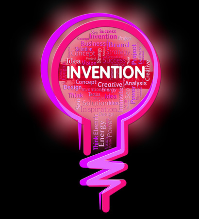 Invention Lightbulb Representing Creation Idea And Innovative