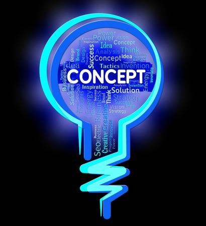 hipótesis: Concepto de la bombilla Conceptos Indicando noción y la abstracción