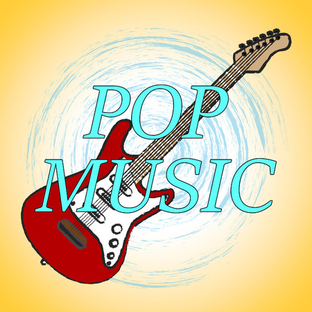soundtrack: Pop Music Showing Sound Tracks And Acoustic Songs Stock Photo
